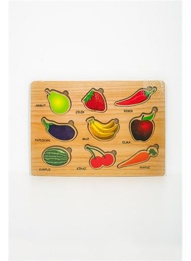 Efe Meyveler Ahşap Eğitici Bul Tak Puzzle Renkli